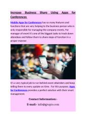 Increase Business Share Using Apps for Conferences.docx