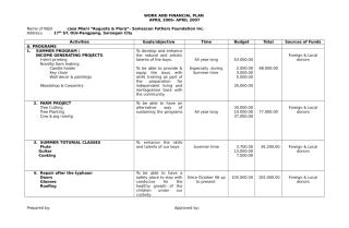 WORK AND FINANCIAL PLAN 06-09.doc