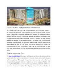 Gaur City Sadar Bazar – The Biggest Retail Shop In Noida Extension.PDF