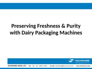 Preserving Freshness & Purity with Dairy Packaging Machines.pptx