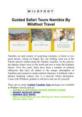 Guided Safari Tours Namibia By Wildfoot Travel.PDF