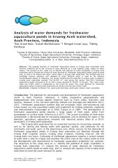 Analysis of water demands for freshwater aquaculture ponds in Krueng Aceh watershed, Aceh Province, Indonesia.pdf