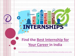 Best internship for your career in india.pdf