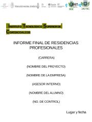 PORTADA INFORME FINAL DE RESIDENCIA .rtf