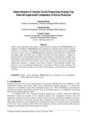 Determinants of Islamic Social Reporting Among Top Shariah-Approved Companies in Bursa Malaysia.pdf