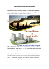 Thermal Power in Saudi Arabia Market Outlook to 2030.doc