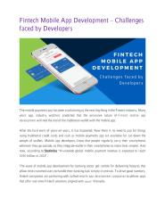 Fintech Mobile App Development – Challenges faced by Developers.pdf