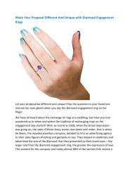 Make Your Proposal Different And Unique with Diamond Engagement Rings (1).pdf