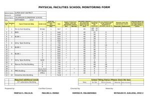 PHYSICAL FACILITIES SCHOOL MONITORING FORM.xlsx