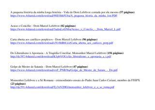 Arquivo PDF com links - Textos e Livros de Dom Marcel Lefebvre.pdf