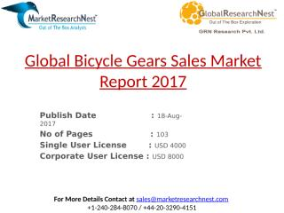 Global Bicycle Gears Sales Market Report 2017.pptx