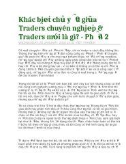 Khác biệt chủ yếu giữa Traders chuyên nghiệp & Traders mới là gì - Phần 2.doc