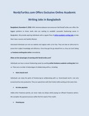 NerdyTurtlez.com Offers Exclusive Online Academic Writing Jobs in Bangladesh.pdf