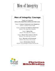 Men of Courage  6 part Series.doc