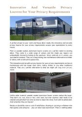 Innovative And Versatile Privacy Louvres For Your Privacy Requirements.pdf