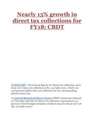 Nearly 15% growth in direct tax collections for FY18- CBDT.pdf